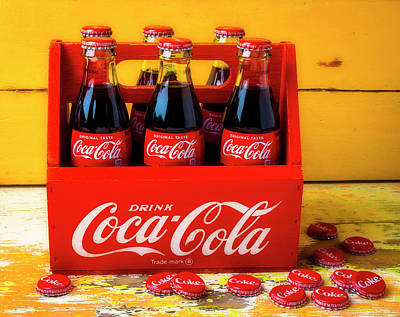 Photograph - Classic Six Pack Of Cokes by Garry Gay