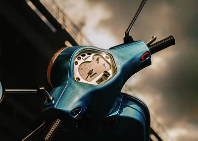Photograph - Classic Vespa by Bob Orsillo