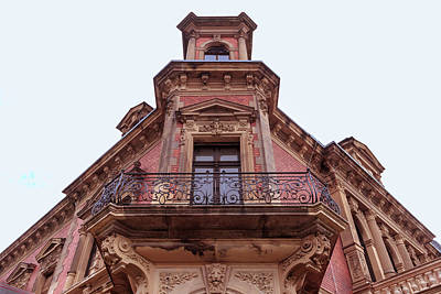 Photograph - Classicist Red Balcony  by ReDi Fotografie