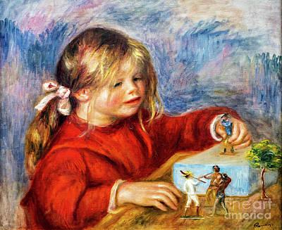 Painting - Claude Renoir Playing by Auguste Renoir