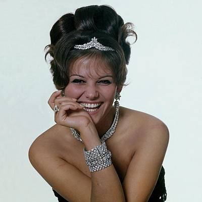 Photograph - Claudia Cardinale In Diamond Jewelry by Bert Stern
