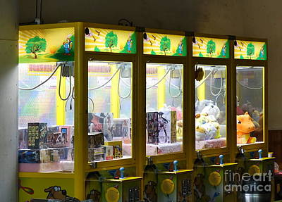 Photograph - Claw Crane Game Machines In Taiwan by Yali Shi