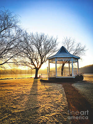 Photograph - Claytor Lake Gazebo On A Frosty Morning by Kerri Farley