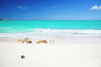 Antilles Photograph - Clean White Caribbean Beach With by Michaelutech