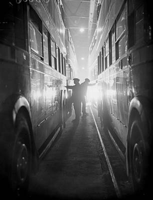Photograph - Cleaning Buses by Express