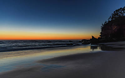 Photograph - Clear Skies Dawn At The Beach by Merrillie Redden