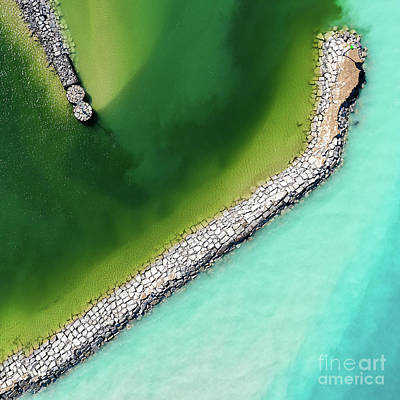 Royalty-Free and Rights-Managed Images - Clear Waters in Leland Aerial by Twenty Two North Photography