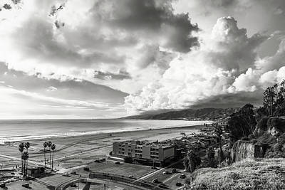 Photograph - Clearing Clouds After The Rain - Black And White by Gene Parks