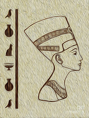 Digital Art - Cleopatra Egyptian Fine Art by Kenneth Montgomery