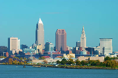 Cityscapes Photograph - Cleveland Skyline And Lake Erie by Davel5957