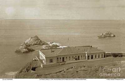 Photograph - Cliff House, Seal Rocks, San Francisco January 15, 1887    by California Views Archives Mr Pat Hathaway Archives