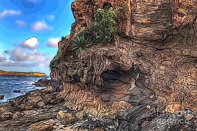 Digital Art - Cliff by Laura Forde