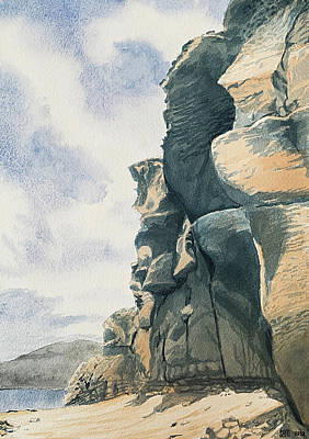 Painting - Cliffs By The Sea In Arguineguin, Gran Canaria by Sami Matilainen