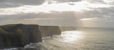Photograph - Cliffs Of Moher In Ireland Beam Of Light  by John McGraw