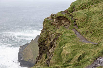 Photograph - Cliffs Of Moher In Ireland Footpath  by John McGraw
