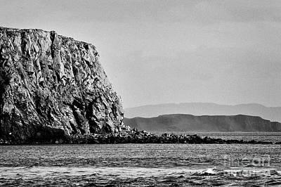 Photograph - Cliffs Of Sheep Island Looking Towards Rathlin Island County Antrim Northern Ireland Looking To The  by Joe Fox