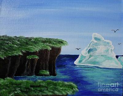 Painting - Cliffs With Iceberg by Jacqueline Athmann