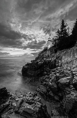 Photograph - Cliffside Bass Harbor Head Lighthouse by Juergen Roth
