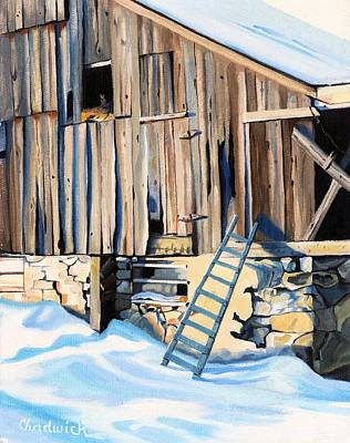 Painting - Climbing The Ladder In Schomberg by Phil Chadwick