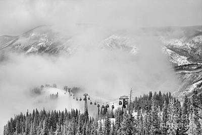 Photograph - Climbing Through The Storm Black And White by Adam Jewell