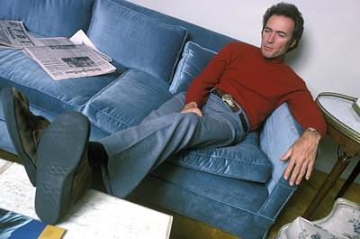 Photograph - Clint Eastwood In Nyc Hotel Room by Waring Abbott