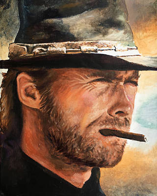 Painting - Clint Eastwood by Robert Korhonen