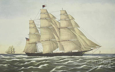 Painting - Clipper Ship, Flying Cloud, Published 1852 by Currier and Ives