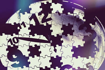 Photo Rights Managed Images - Clock holes and puzzle pieces Royalty-Free Image by Jorgo Photography - Wall Art Gallery