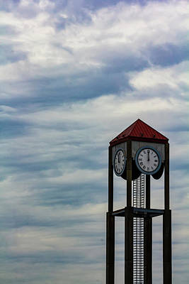 Photograph - Clock Tower And Clouds by Robert Ullmann