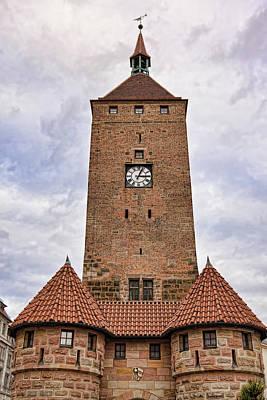Photograph - Clock Tower In Nuremberg  by Tatiana Travelways