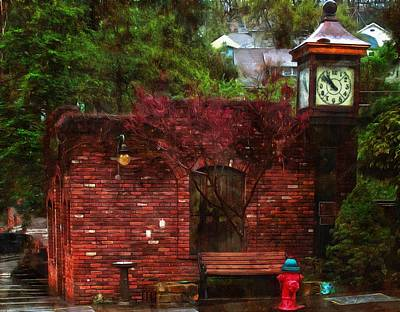 Photograph - Clock Tower Placerville by Thom Zehrfeld
