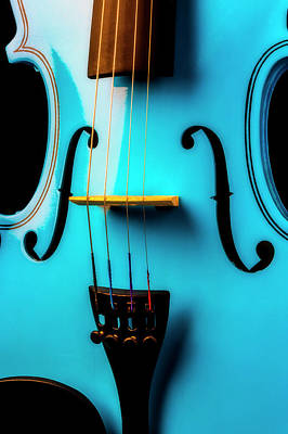 Photograph - Close Up Blue Violin by Garry Gay