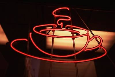 Photograph - Close-up Of A Neon Sign Of A Restaurant by Glow Images