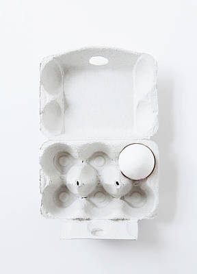 Close Up Of Egg In Carton Art Print by Cultura Rm Exclusive/line Klein