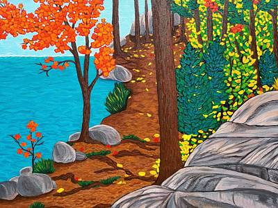 Painting - Close-up Of Lakeside Trail by Michelle Vyn