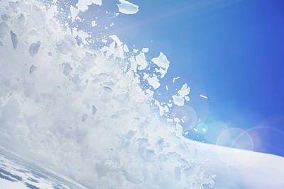 Close Up Of Snow Covered Hill With Art Print by Moof