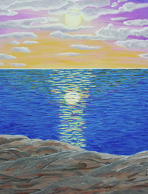Painting - Close-up Of Sunset Blessing by Michelle Vyn