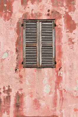 Photograph - Close-up Of Wall And Window With Closed by Jean-christophe Riou