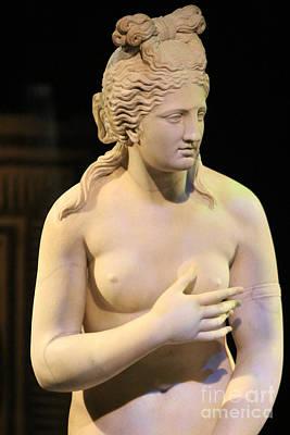 Photograph - Closeup Of Aphrodite In Marble Pompeii 1 Century Ad by Colleen Cornelius
