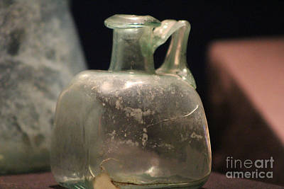 Photograph - Closeup Of Bottle From Pompeii by Colleen Cornelius