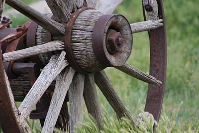 Photograph - Closeup Of Vintage Wagon Wheel by Colleen Cornelius