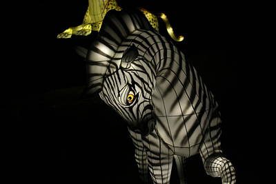 Photograph - Closeup Of Zebra Christmas Decoration In Palm Desert by Colleen Cornelius