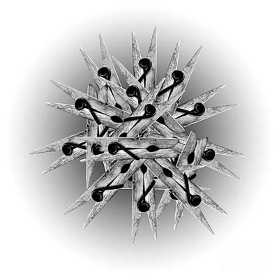 Digital Art - Clothespin Pop Art Warhol Style Print - #2 by Jean luc Comperat