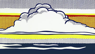 Photograph - Cloud And Sea by Doc Braham - In Tribute to Roy Lichtenstein