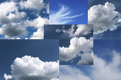 Photograph - Cloud Collage One by Cate Franklyn