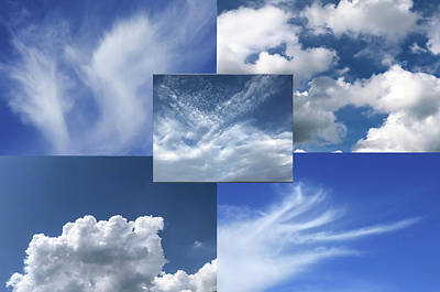 Photograph - Cloud Collage Two by Cate Franklyn