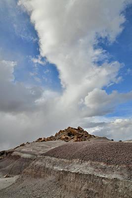 Photograph - Cloud Rising Above Bentonite Dunes In Utah by Ray Mathis