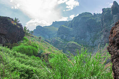 Photograph - Cloud Strip Over The Masca Gorge by Sun Travels