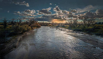 Photograph - Cloudburst Over The Estrella River by Tim Bryan
