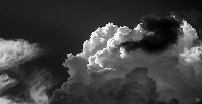 Photograph - Clouds 1 Society In Black And White by Greg Mimbs